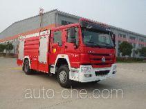 Jinshengdun JDX5200GXFPM80/H foam fire engine