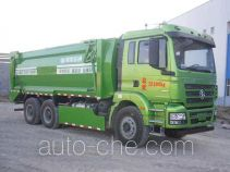 Solid material recovery dump truck