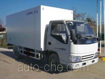 Guodao JG5045XBWD insulated box van truck