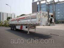 Shanhua JHA9380GGY high pressure gas long cylinders transport trailer