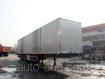 圆易牌JHL9400XXY型铝合金厢式运输半挂车