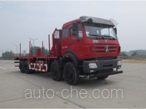 Oil well pipe transport truck