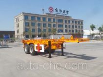 Yucheng JJN9350TWY dangerous goods tank container skeletal trailer