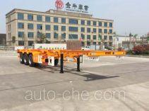 Yucheng JJN9400TWY dangerous goods tank container skeletal trailer