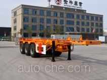 Yucheng JJN9401TWY dangerous goods tank container skeletal trailer