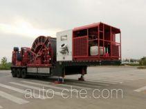 Coil tubing trailer
