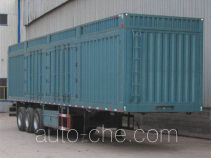 Kuangshan JKQ9400XXY box body van trailer