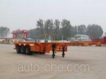 Guangtongda JKQ9402TWY dangerous goods tank container skeletal trailer