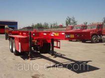骏强牌JQ9351TJZ型集装箱运输半挂车