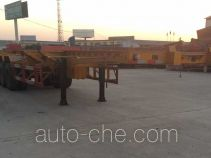 Junqiang JQ9400TWY dangerous goods tank container skeletal trailer