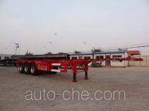 Juntong JTM9400TWY dangerous goods tank container skeletal trailer
