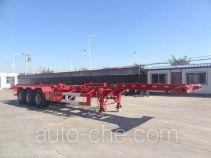 Juntong JTM9401TWY dangerous goods tank container skeletal trailer