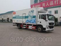 绿叶牌JYJ5167XLCE型冷藏车