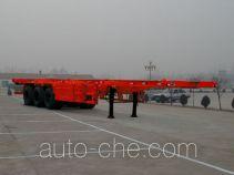 骜通牌LAT9380TJZG型集装箱运输半挂车