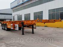 骜通牌LAT9400TJZ型集装箱运输半挂车