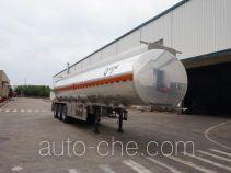 运力牌LG9401GRY型铝合金易燃液体罐式运输半挂车