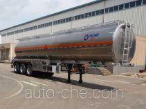 运力牌LG9402GRY型铝合金易燃液体罐式运输半挂车