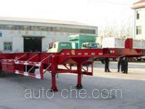杨嘉牌LHL9382TJZG型框架式集装箱运输半挂车