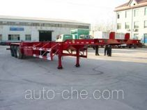 杨嘉牌LHL9384TJZG型框架式集装箱运输半挂车