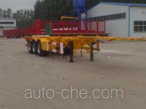 Huasheng Shunxiang LHS9400TWY dangerous goods tank container skeletal trailer