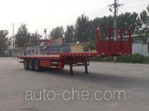华盛顺翔牌LHS9400TPBE型平板运输半挂车