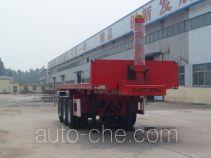 华盛顺翔牌LHS9400ZZXP型平板自卸半挂车