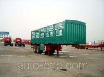 华宇达牌LHY9350CLXY型仓栅式运输半挂车