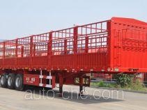 华宇达牌LHY9381CCY型仓栅式运输半挂车