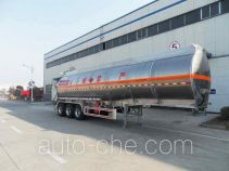 华宇达牌LHY9400GRY型铝合金易燃液体罐式运输半挂车