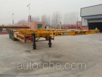 Hualiang Tianhong LJN9403TWYE dangerous goods tank container skeletal trailer