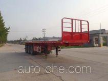 辰陆牌LJT9400ZZXPC型平板自卸半挂车