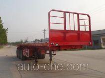辰陆牌LJT9402ZZXP型平板自卸半挂车
