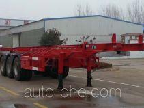 Tengyun LLT9401TWY dangerous goods tank container skeletal trailer