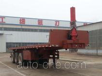 Tengyun flatbed dump trailer
