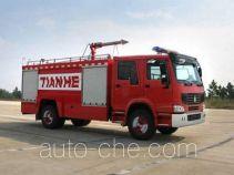 Tianhe LLX5193GXFSG80H fire tank truck