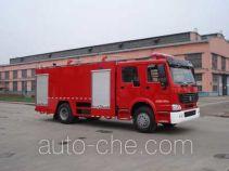天河牌LLX5193TXFGF40H型干粉消防车