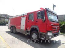 Tianhe LLX5314GXFSG150/H fire tank truck
