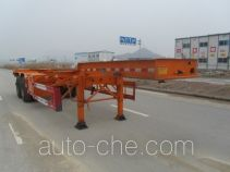 Nanming LSY9353TWY dangerous goods tank container skeletal trailer
