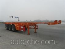 Nanming LSY9400TWY dangerous goods tank container skeletal trailer