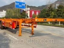 Nanming LSY9408TWY dangerous goods tank container skeletal trailer