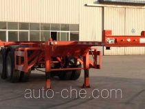 梁通牌LTT9350TJZ型集装箱运输半挂车