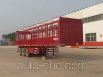 利源达牌LWY9370CCY型仓栅式运输半挂车