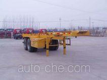 梁兴牌LX9350TJZ型集装箱运输半挂车