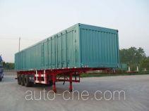 梁兴牌LX9380XXY型厢式运输半挂车
