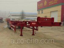 梁兴牌LX9401TJZ型集装箱运输半挂车