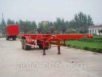 新科牌LXK9351TJZ型骨架式集装箱运输半挂车