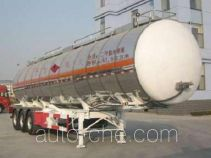 Jinwan LXQ9401GRY flammable liquid aluminum tank trailer