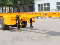 Jinyue LYD9404TWY dangerous goods tank container skeletal trailer
