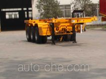 Jinyue LYD9405TWY dangerous goods tank container skeletal trailer