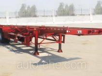 Liangfeng LYL9351TWY dangerous goods tank container skeletal trailer